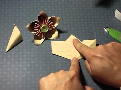 Paper flower tutorial -origami Kusudama flower