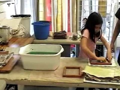 Paper Making with Lonnie and Jacqueline
