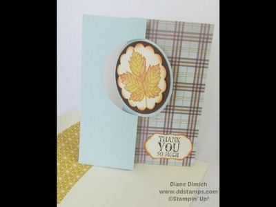 Quick And Easy Greeting Card Using The Stampin' Up! Thinlits