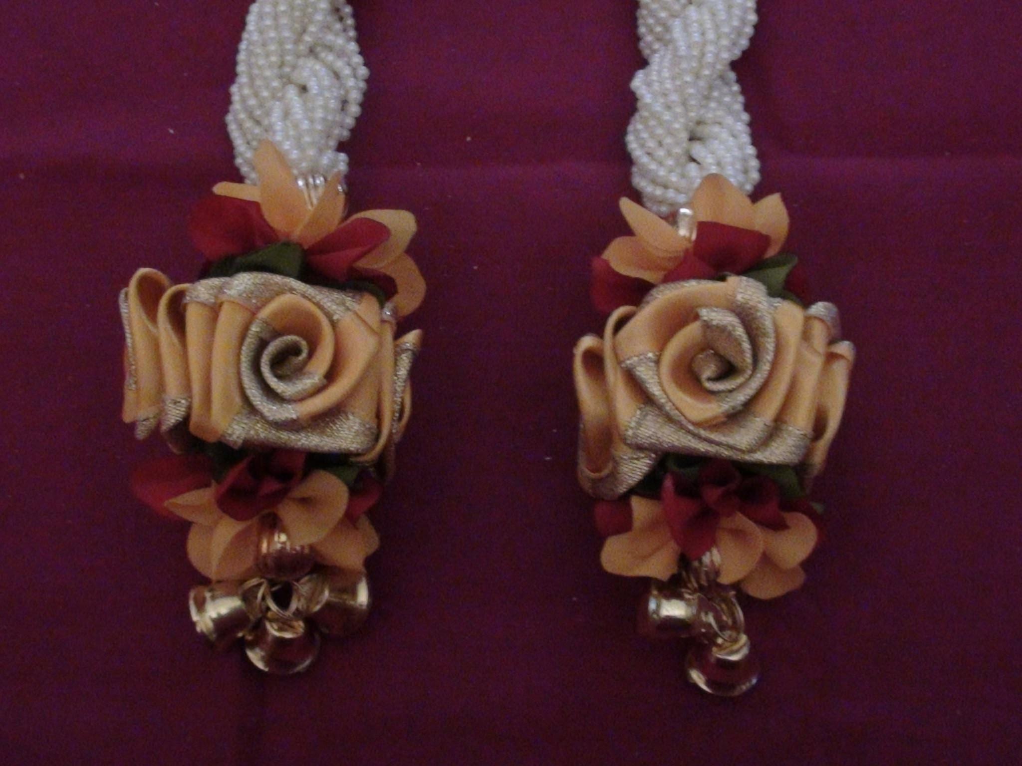 Satin rose and pearl hangings making video