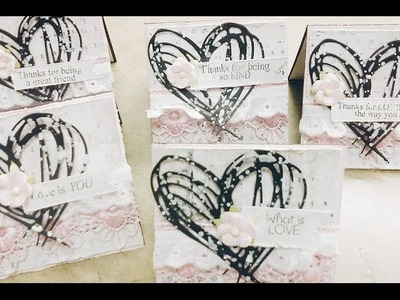 {SHABBY CHIC NOTE CARDS} ~ Lavish Laces and The Cutting Cafe