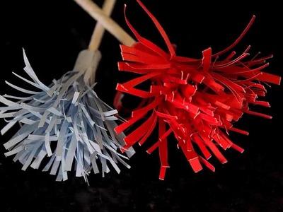 Simple Chimp Paper Flowers | DIY Origami Paper Crafts by SrujanaTV
