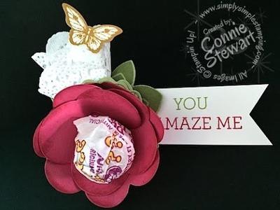 Simply Simple Lollypop Spiral Flower by Connie Stewart