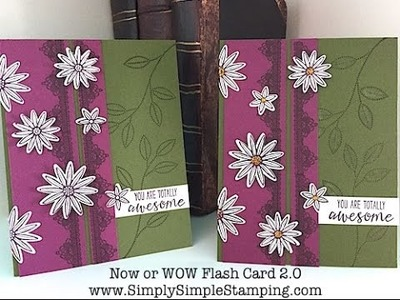 Simply Simple Now or WOW Flash Card 2.0 - Grateful Bunch Card by Connie Stewart