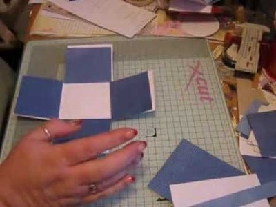 Small Exploding Box Tutorial re:Card Making Tips on Face Book - Part 1