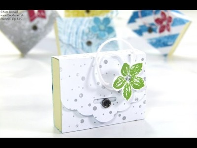 SPRINGWATCH Tag Topper Mini Post Its Tutorial by Stampin' Up! UK Independent Demonstrator Pootles