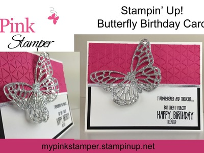 Stampin' Up! Butterfly Birthday Card - Episode 468