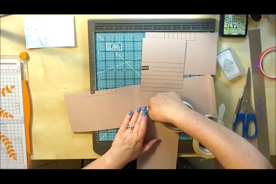 Style 6 File Folder Mini Album Tutorial Part 1