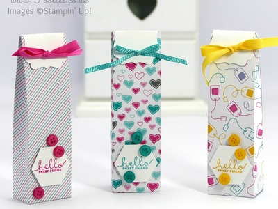 Sweet Friend Decorative Label Topped Bag Tutorial