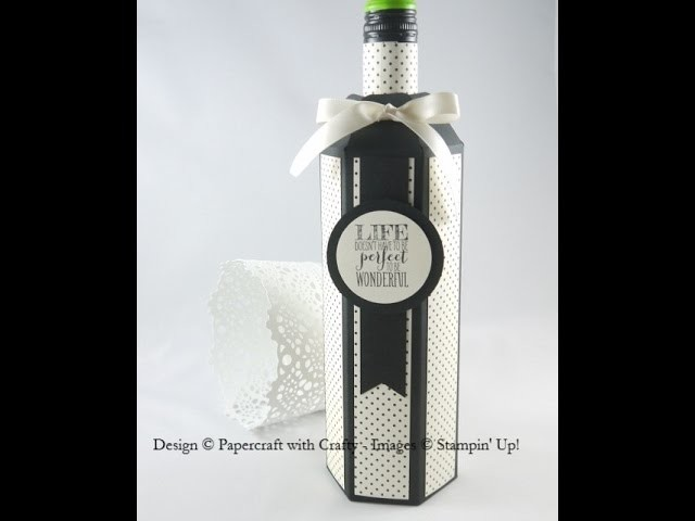 Wine Bottle Box - Gift Bag Punch Board