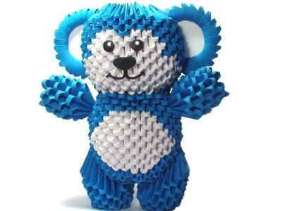 3D origami blue bear tutorial (remake)