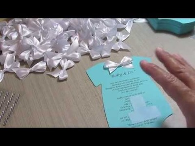"""Accucut Onsie """"Tiffany & Co."""" Baby Shower Invites!!"""