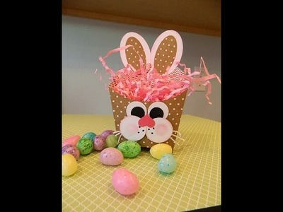 Easter Bunny Punch Art on Stampin' UP!'s Fry Box Bigz Die