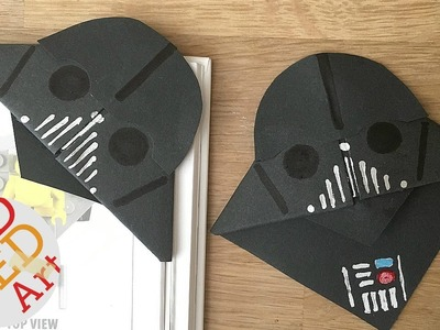 Easy Darth Vader Bookmarks for Father's Day