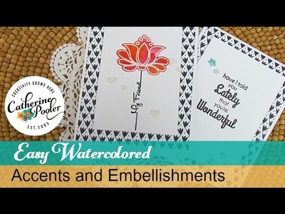 Easy Watercolored Accents and Embellishments