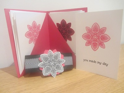 Hand made note card gift set with Stampin' Up Petal Potpourri