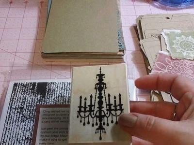 How I make my mini junk journals - Step 3