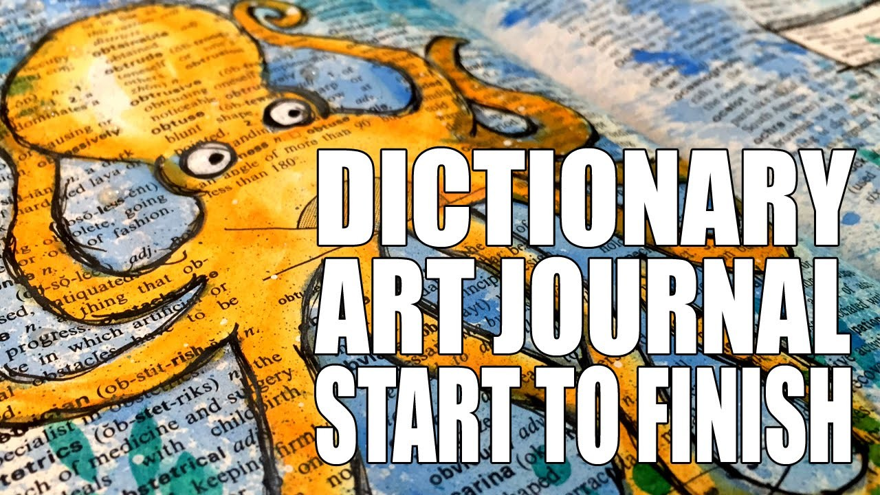 How to: Dictionary Art Page - Octopus (Part 1)
