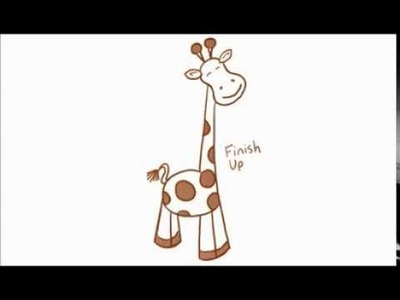 How to Draw a Cartoon Giraffe Using Simple Shapes (5 of 5)