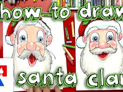 How To Draw Santa Claus's Face