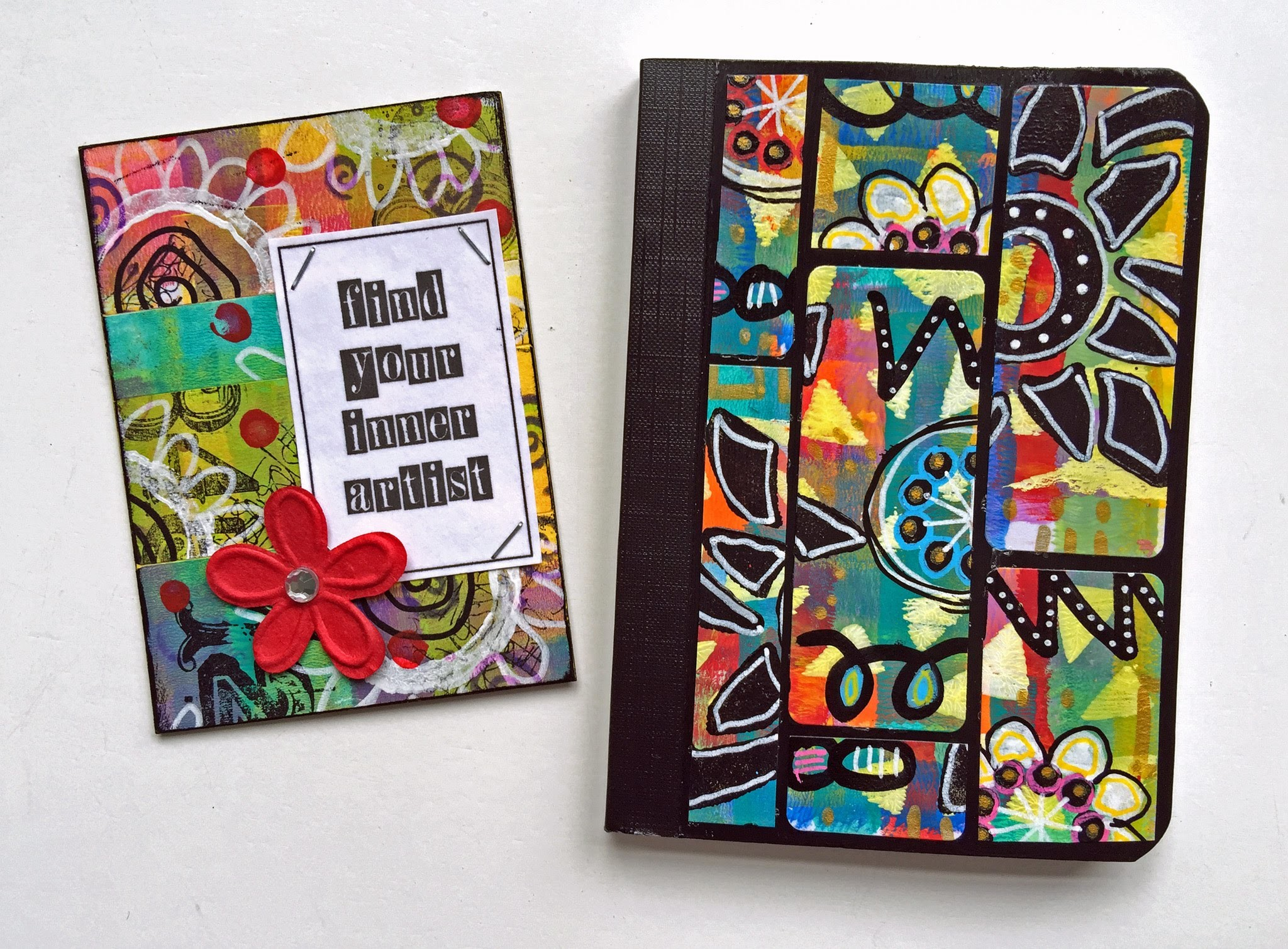 Ideas for Using Painted Labels in Mixed Media Projects
