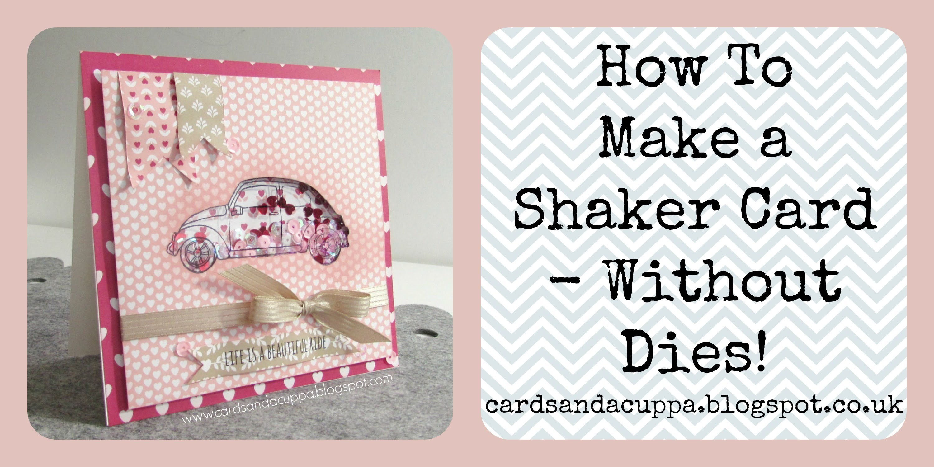 Make a Shaker Card with No Dies using Beautiful Ride by Stampin' Up!