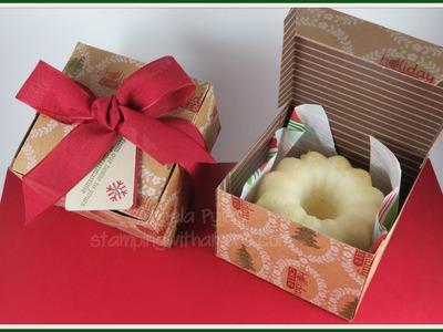 Mini Bundt Cake Christmas Box