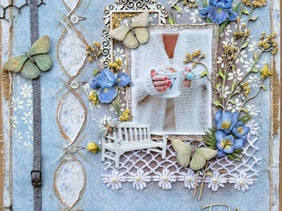 Mixed Media Layout Tutorial  Relax By Gabrielle