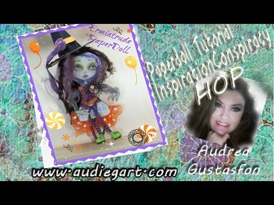 Mixed Media Paper Doll Tutorial - Halloween- Inspiration Conspiracy Hop