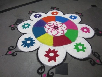 New flower rangoli design-25