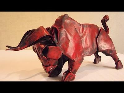 Origami Bull - special gift from Stephan Weber