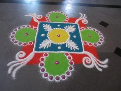 Sanskar bharti colourfull rangoli design - S37