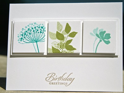 Stampin' Up Birthday Card using Summer Silhouettes