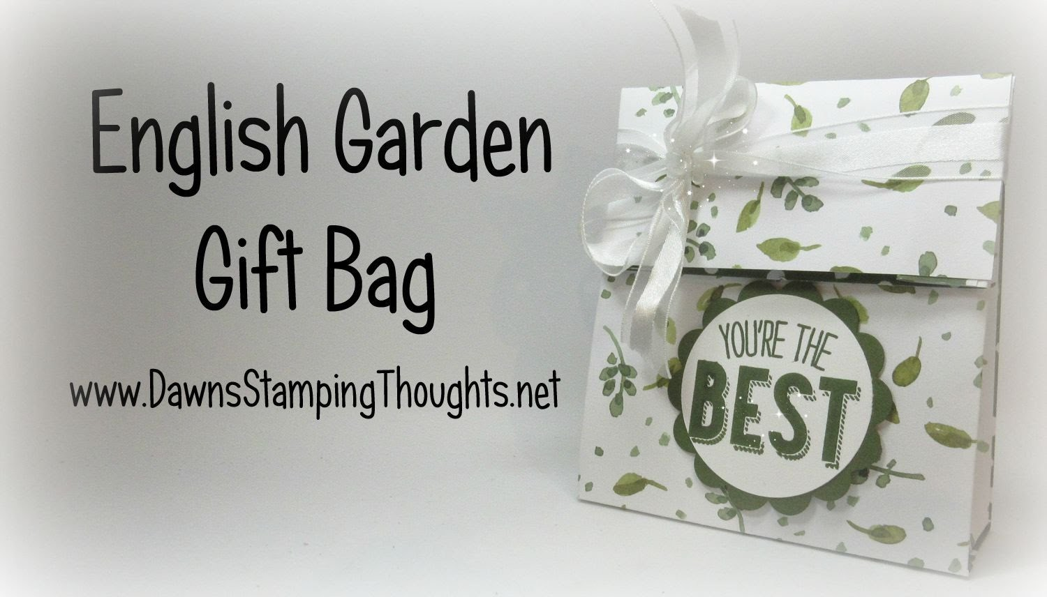 Stampin'Up! English Garden Gift Bag with  Dawn