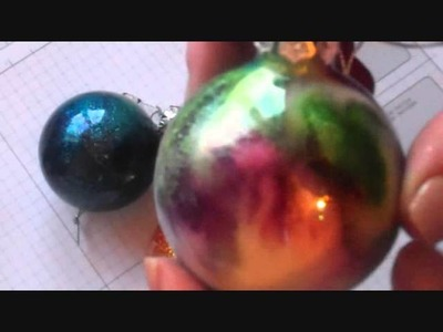 Stampin'Up! Glittered Glass Ornaments with Monica Gale