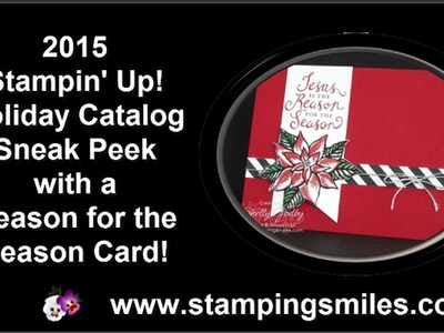 Stampin' Up! Holiday Catalog Sneak Peek with Reason for the Season Card