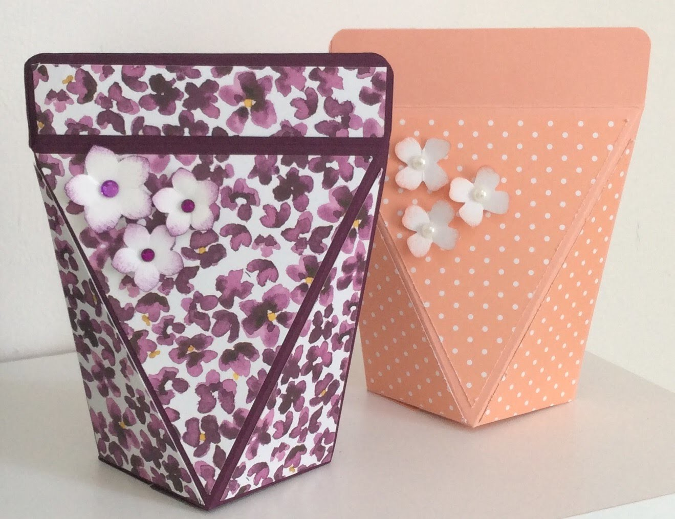 Stampin Up How To Make A Squeeze Top Gift Box
