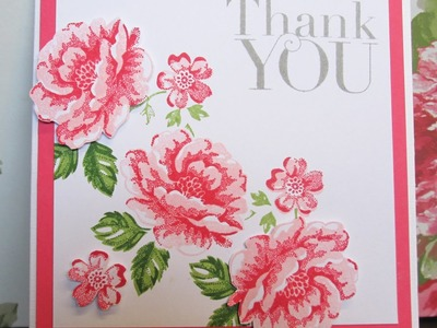 Stampin Up Stippled Blossoms Card