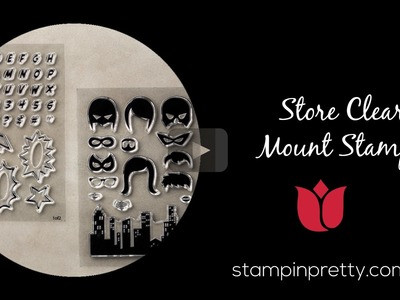 Stampin' Up! Tutorial:  How to Store Clear Stamps