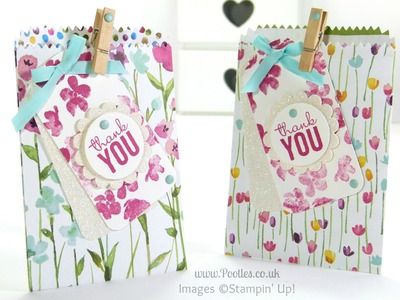 Stampin' Up! UK Painted Blooms Mini Treat Bag Tip Tutorial