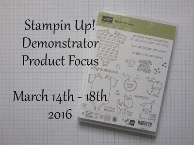 SU! Demonstrator Product Focus - Made with Love Project 3 of 3