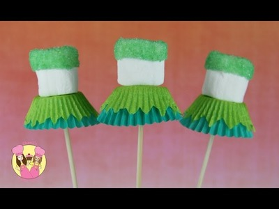 TINKERBELL MARSHMALLOW POPS - party treat idea - by Charli's Crafty Kitchen - Disney Fairies tinker