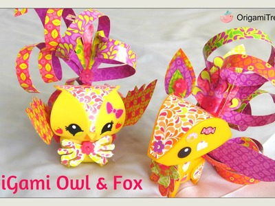 UNBOXING AmiGami. Ami Gami - Fox and Owl Figures - Mattel - How-To Ami Gami