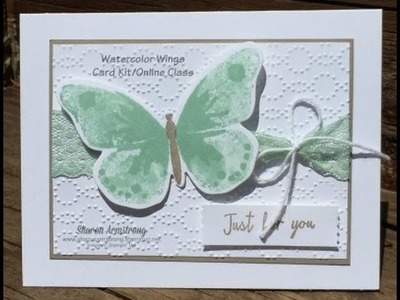 Watercolor Wings Stampin' Up! July Card Class card 3 of 6