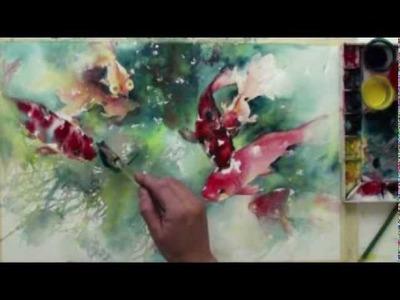 Watercolor with Lian Quan Zhen: Koi & Goldfish
