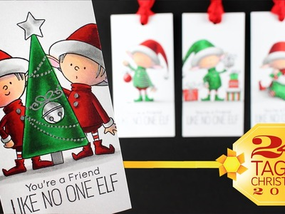 24 Tags of Christmas: Shading Elves in Copic Marker