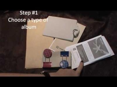 Basics to making a mini album