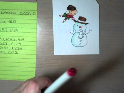 Coloring a snowman with Copic markers