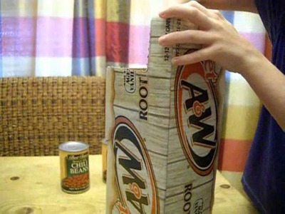 Frugal Storage for Canned Goods  -  Using Soda Can Cartons