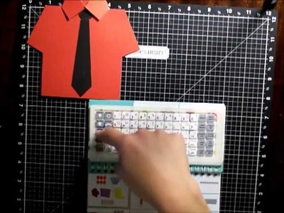 How to Make a Mens Shirt Card using the CTMH Artiste Cricut Cartridge